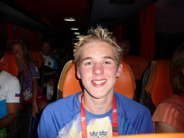 Erik Brandt Södertälje gjorde en fin finalinsats på 50m fritt med att slå pers igen.