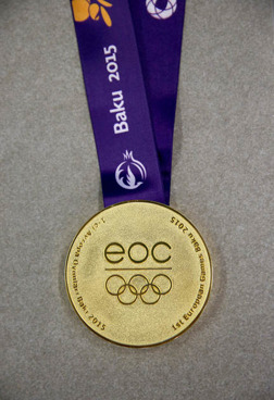 Medaljens framsida......