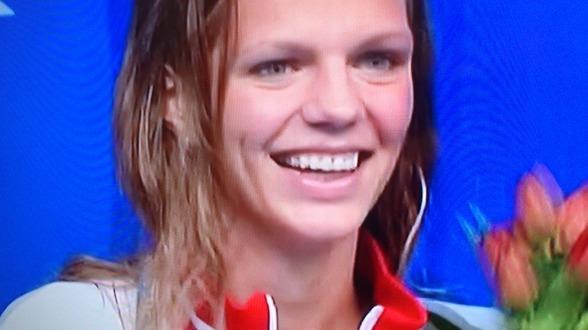 Julia Efimova var bara 3/100-delar över Europarekordet när hon vann 50m bröstsim idag. Dock nytt mästerskapsrekord.