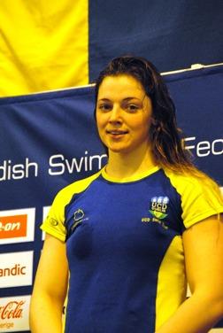 Shauna O Brien från Dublin/IRL - trea på 100m fjärilsim