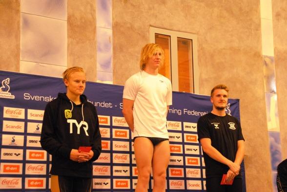 Prisutdelning 400m medley herrar