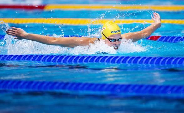 Louise Hansson, Helsingborgs var enda svensk i vattnet den 6:e dagen av VM i simning. Louise simmade 50m fjärilsim men det räckte inte till för att nå semifinalen på distansen.