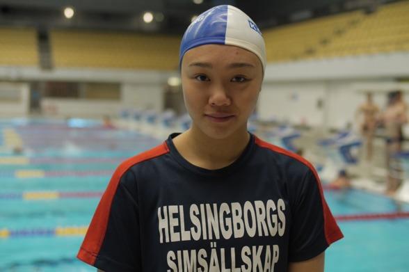 Mari Louise Tran tvåan på 100m bröstsim