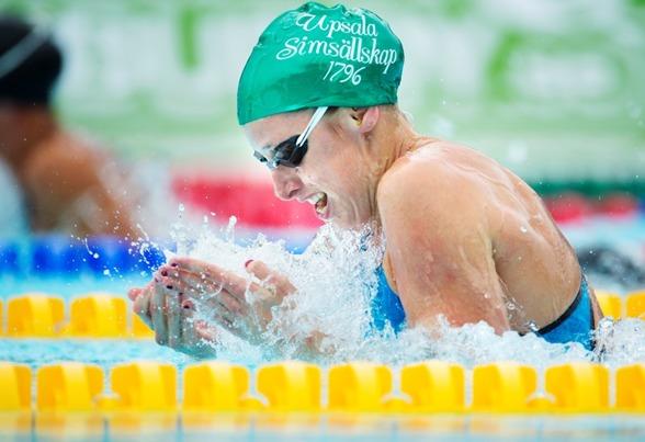 Jennie Johanson slog mästerskapsrekord på 100m bröstsim idag