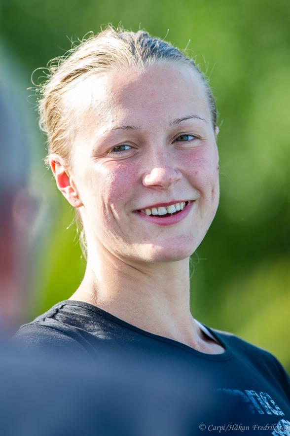 Sarah Sjöström var snabbast i försöken och vann JSM-titeln på 50m fjärilsim damer
