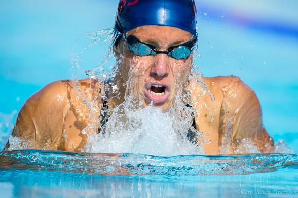 Snabbast i försöken på 100m bröstsim - Joline Höstman