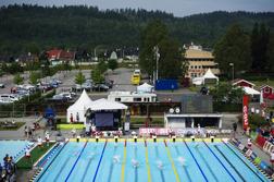 Arenan i Borås från oben.