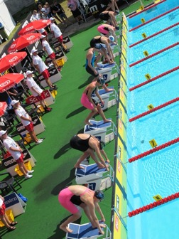Start på 100m fritt damer