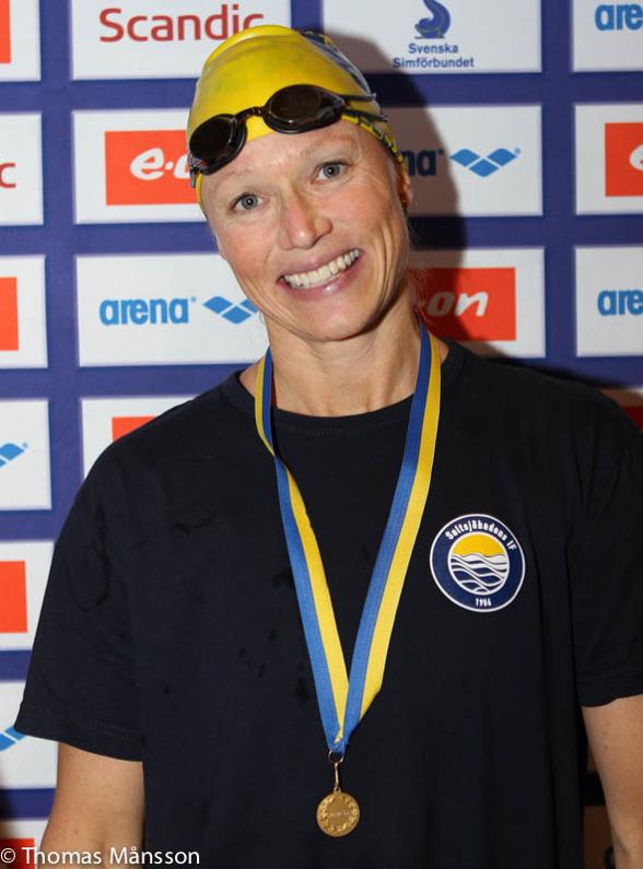 Anna Hammar slog världsrekord på 100m bröstsim i 45-49-klassen idag!!!