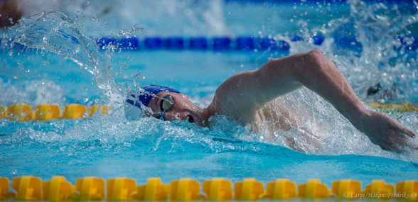 400m fritt segraren Gsutav Åberg Lejdström