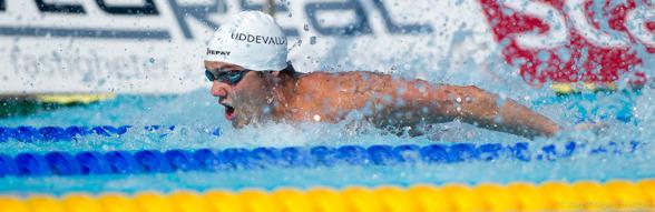 Jesper Jonsson Uddevalla vann 100m fjäril herrar