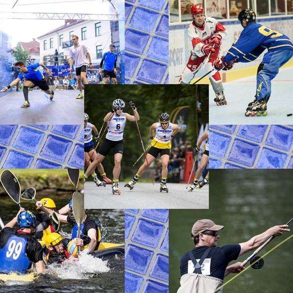 SM-veckan i Borås innehåller 40 olika idrotter. Här några Squash, rullskidor, kanotpolo, casting och hockey på rullskridskor.
