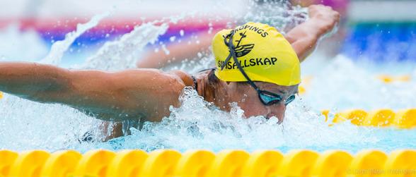 Martina Granström spurtade bra och tog silver på 400m medley