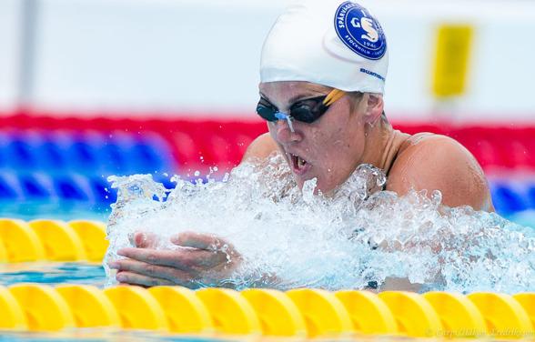 Stina Gardell - försöksbäst på damernas 400m medley.