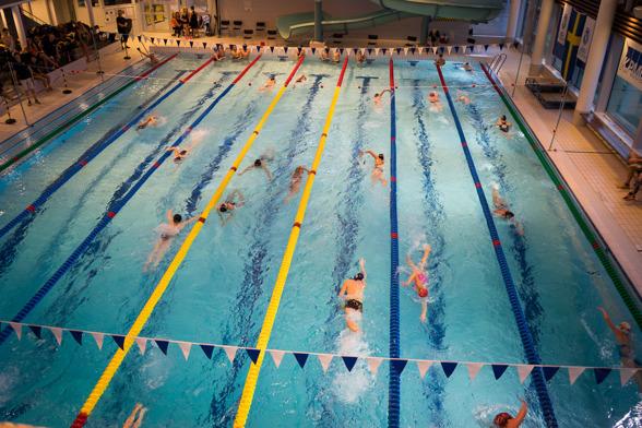Här simmar man in på morgonen, i Härnösand