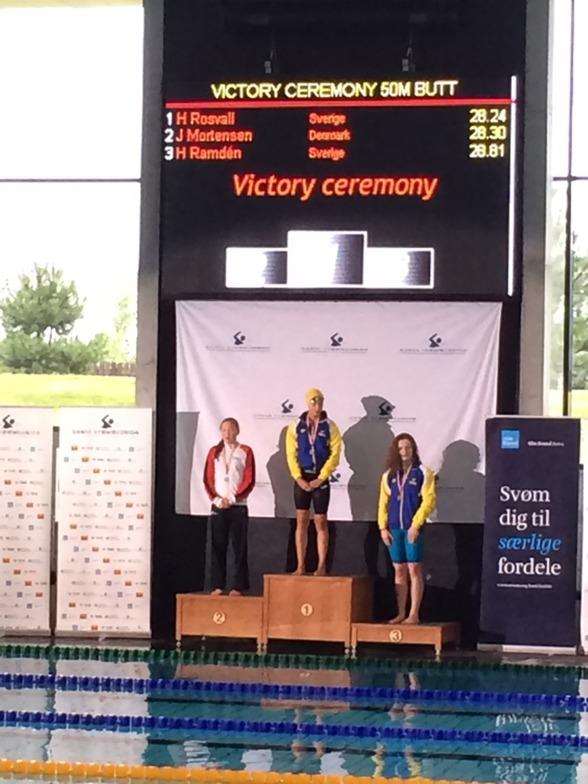 Hanna Rosvall från Ängelholm vann 50m fjärilsim idag.