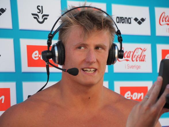 Oscar Ekström vann klart 100m fjärilsim