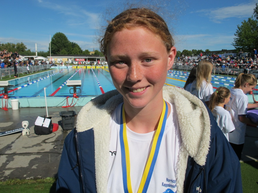 Sara Wallberg - svenska som simmade 100m bröstsim idag och inte gick vidare.