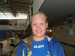 Erica Sjöholm - Sjöbo Simsällskap. Persade tre sekunder på 1500m fritt idag.