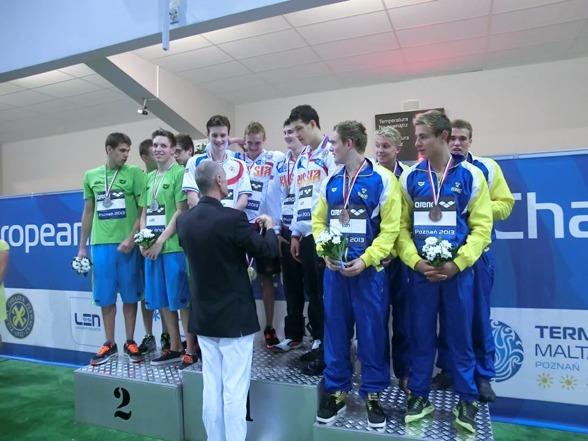 Det svenska bronslaget på 4x100m medley herrar