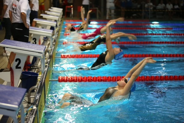 Start 200m rygg i Skellefteå