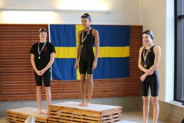 Skellefteå: Sundsvalls tjejer tog även idag en trippel, denna gång på 400 m frisim i yngsta klassen.