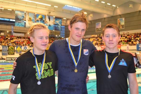 De tre medaljörerna i gren 1