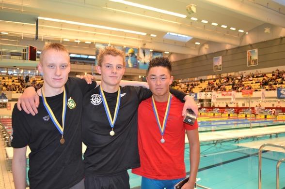Medaljtrion på 200m fritt i 14-års klassen