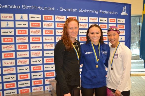 Hjalmarsson, Forés och Tran på 200m fritt