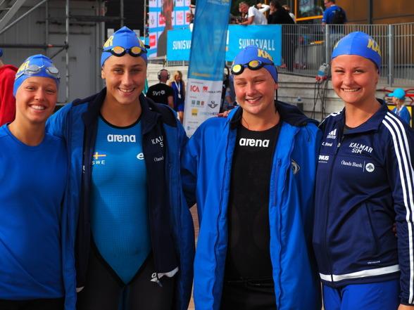 Kalmars damlag på 4x100m fritt