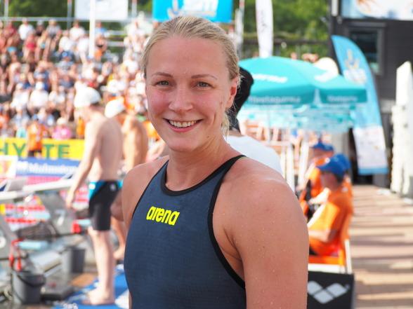 Sarah Sjöström vann 100m fjäril ikväll på 56.96