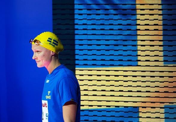 Sarah Sjöström var med och utmanade på 200m fritt men orkade inte simma upp sig på prispallen. Det blev en fjärdeplats till slut.