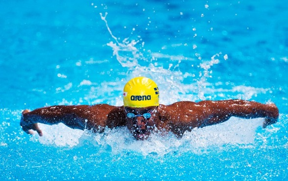 Fin försökssimning av Simon Sjödin gav svenskt rekord på 200m medley