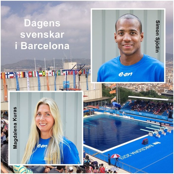 Magdalena Kuras och Simon SJödin var dagens försökssvenskar i Barcelona.