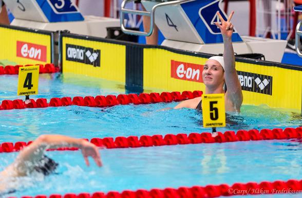 Inte bara svenska rekord ikväll. Lara Lajunen slog sitt andra finska rekord under SM