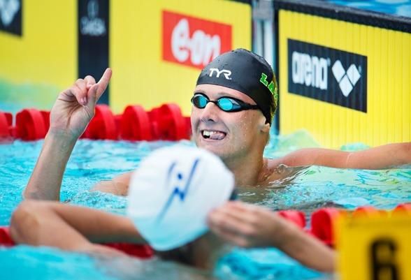 Oscar Ekström LASS Linköping blev klar svensk juniormästare på 100m fritt när JSM-finalerna avgjordes i samband med försökstävlingarna på SM i Halmstad