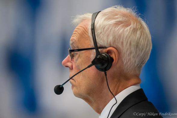 Tävlingsledaren Jan Carlsson - fokuserad.