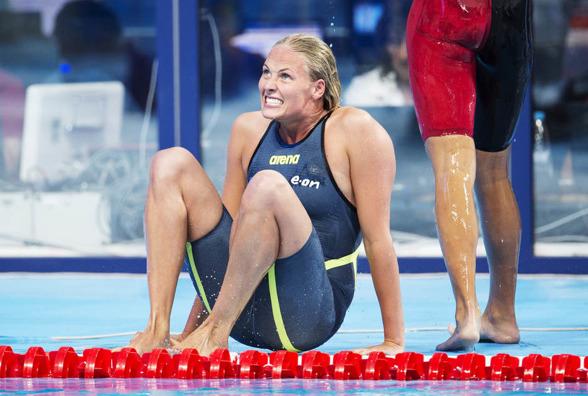 Michelle Coleman lyckades inte resa sig efter försöken och gå till final på 200m fritt