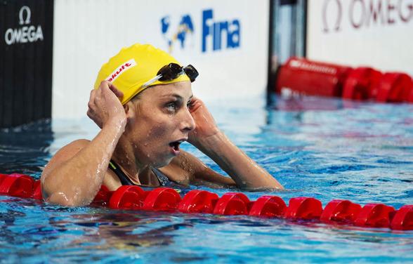 Jennie Johansson blev sjua på 100m bröstsim idag