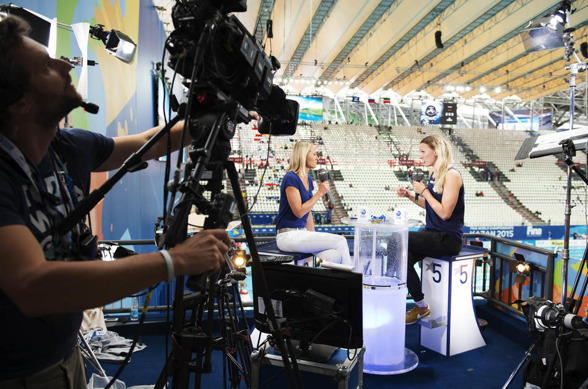 Sarah Sjöström var med i Eurosport under dagens sändning