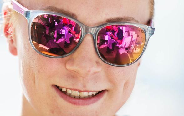 Sarah Sjöström solade sig i glansen och hade en ledig tävlingsdag - idag.