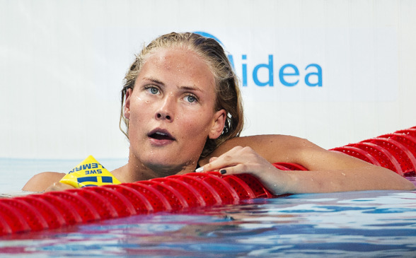 MIchelle Coleman utslagen i semifinalen på 100m fritt