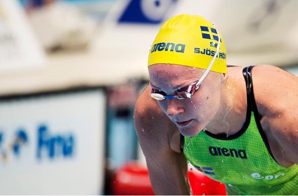 Sarah Sjsötröm etta till final på 100m fritt