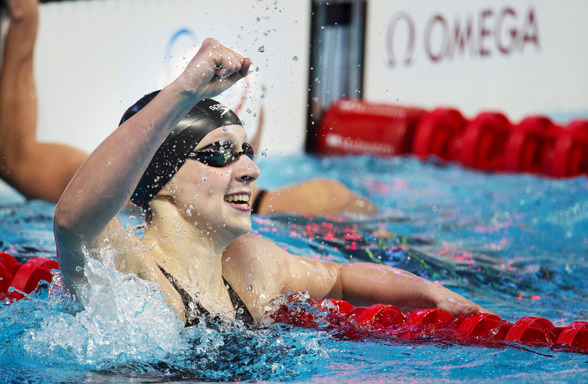 Katie Ledecky vann sitt TREDJE guld - på 200m fritt- Simdrottningen 2015