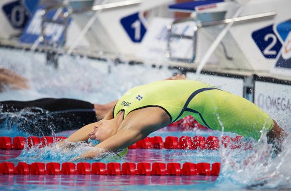 Magdalena Kuras utslagen på 50m ryggsim i morse