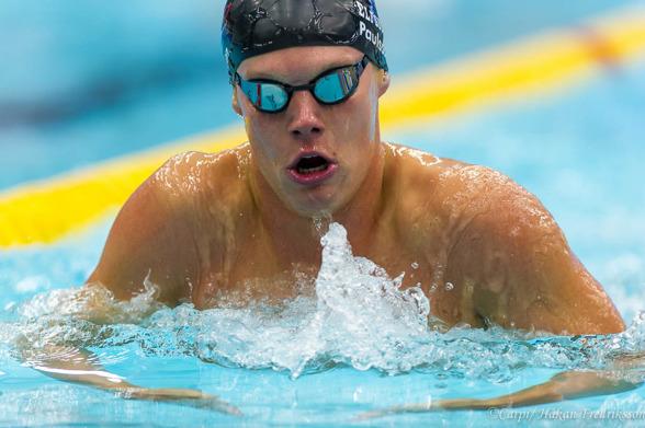 Adam Paulsson satte juniorrekord på 400m medley