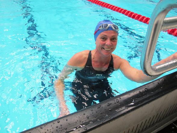 Karin Elmberg från Kristianstad slog Nordiskt rekord på 800m fritt i 50-54-klassen