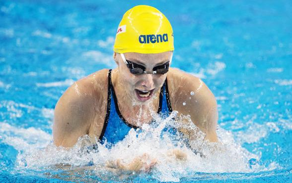 Fyra tiondelar över det svenska rekordet och en 11:e plats för Jennie Johannsson på 100m bröstsim