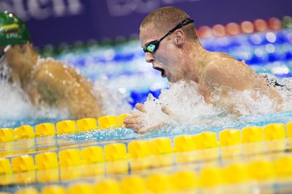Erik Persson några tiondelar över det personliga rekordet på 100m bröstsim
