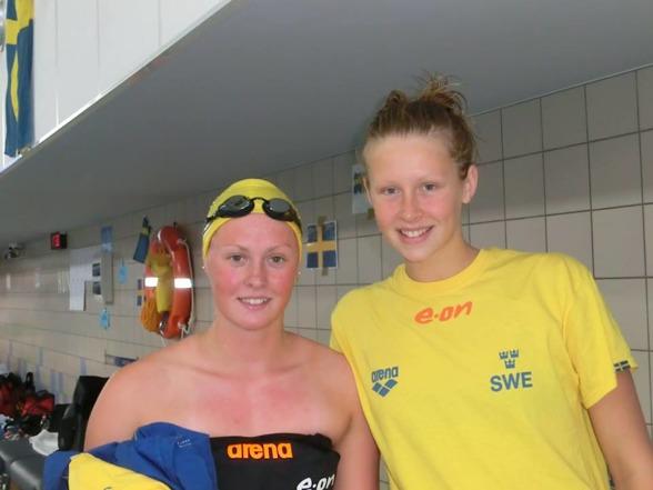 Elin Podeus och Sophie Hansson var svenskarna i vattnet den andra EJM-dagen i Poznan.